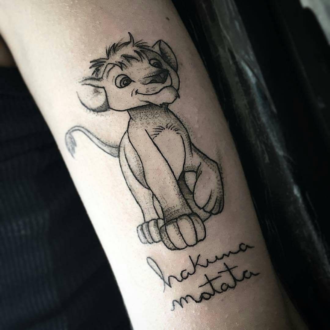 小臂辛巴英文字纹身图案